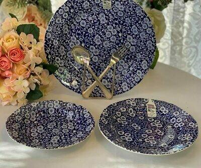 Blue Calico Plates
