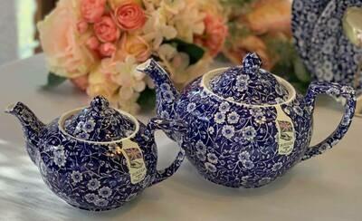 Blue Calico Tea Pot
