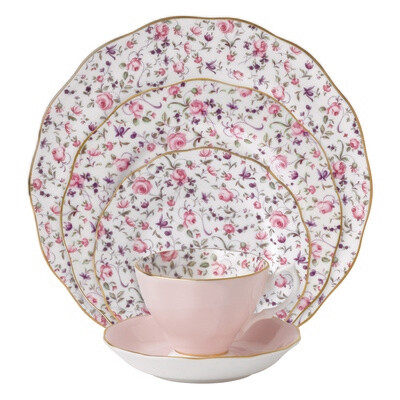 Confetti Rose Placesetting