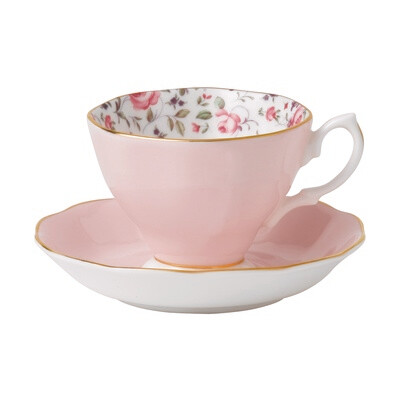 Confetti Rose Tea Cup and Saucer