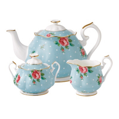 Polka Blue Tea Set