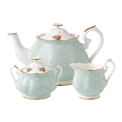 Polka Rose Tea Set