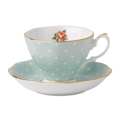 Polka Rose Cup and Saucer