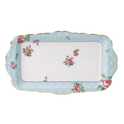 Polka Blue Sandwich Tray