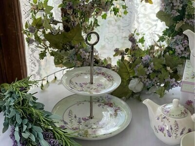 Lavender Rose Tiered Stand