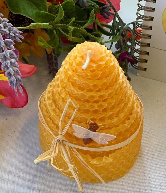 Summertime Beeswax Candle