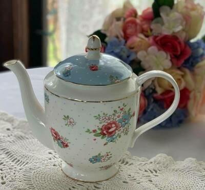 Katie Blue Polka Dot Tea Pot