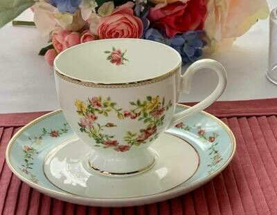 Rose Heart Cup and Saucer