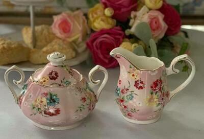 Shabby Rose Pink Cream and Sugar