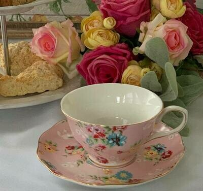 Shabby Rose Pink Tea Cup