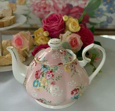 Shabby Rose Pink Tea Pot