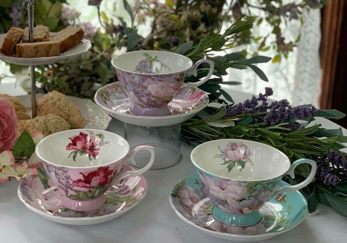 Peony Blossom Cup and Saucer