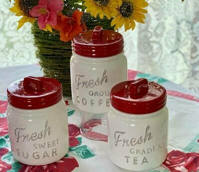 Small Canister Set - Red