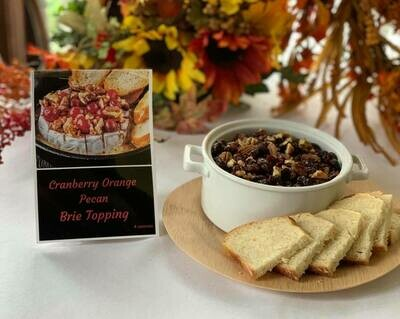 Cranberry Orange Pecan Brie Topping