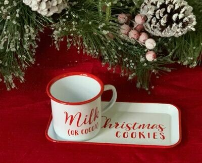 Clause's Kitchen Cookies and Milk Set