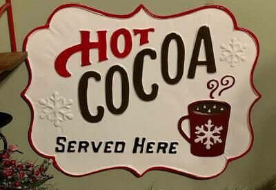 Hot Cocoa Enameled Metal Sign