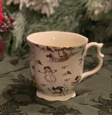 Snowman Chintz Hot Chocolate Mug