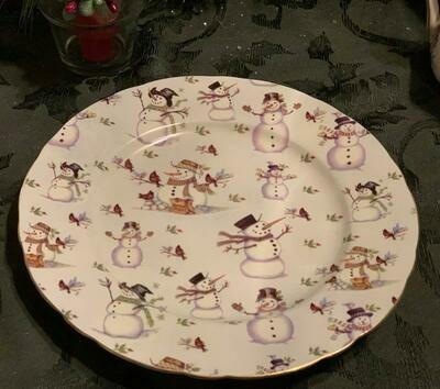 Snowman Chintz Plate