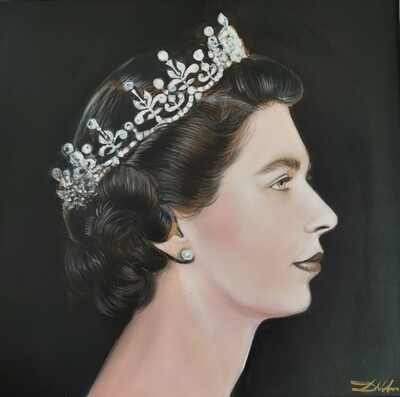 The portrait of the Queen Elizabeth II