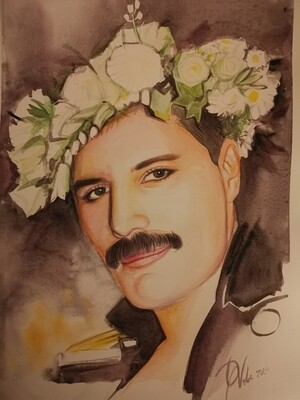 The portrait of Freddie Mercury/Limited edition