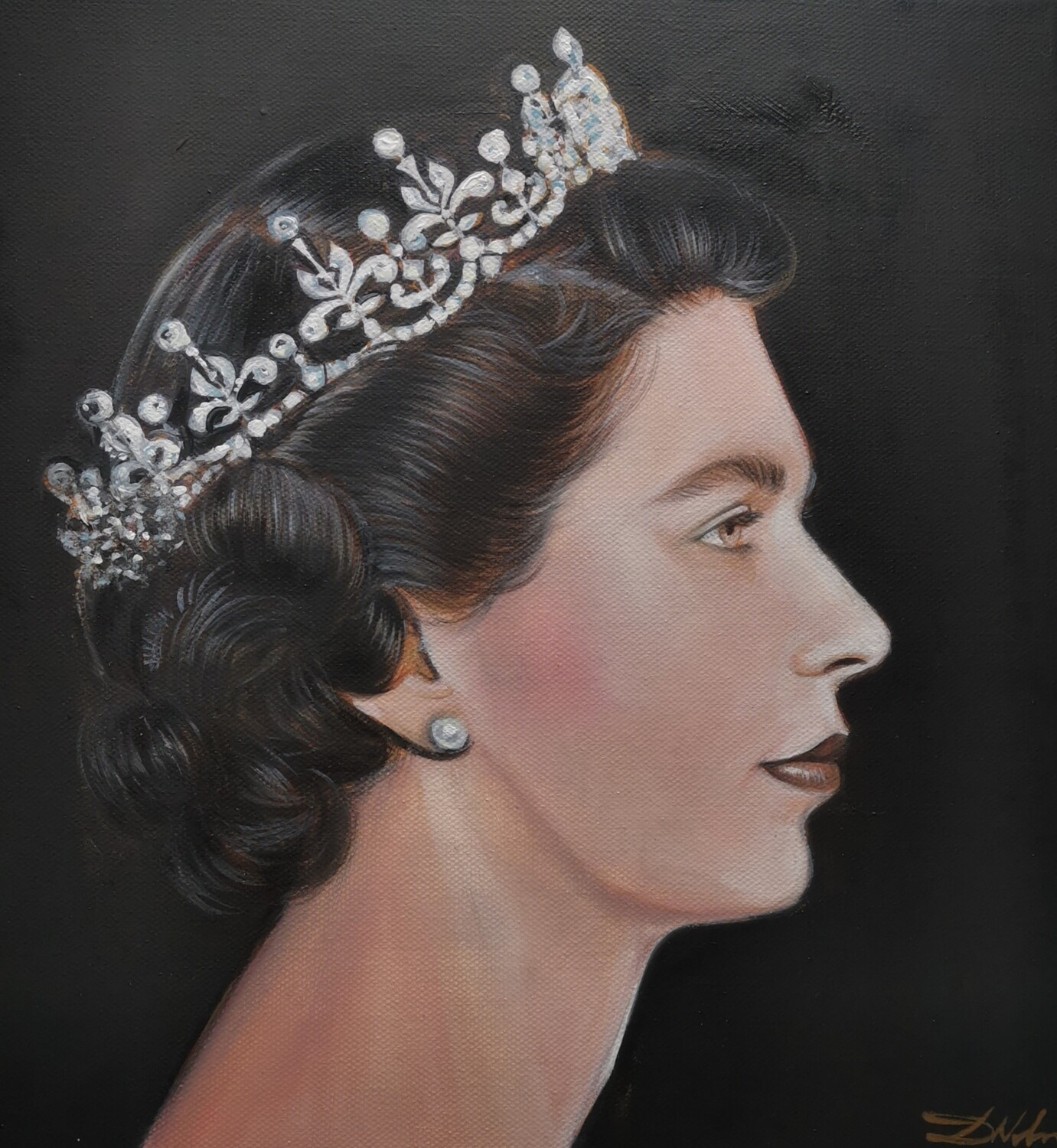 The portrait of the Queen Elizabeth II / Limited edition