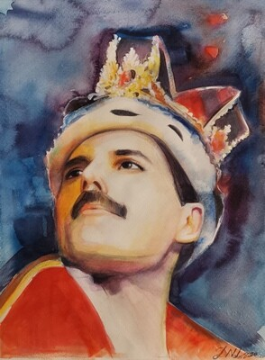 The portrait of Freddie Mercury /Limited edition 1/100