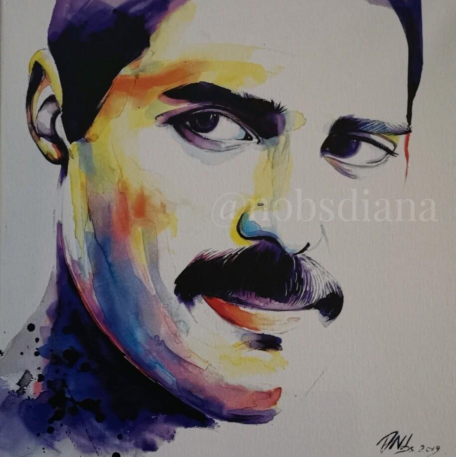 The portrait of Freddie Mercury /Limited edition print on canvas