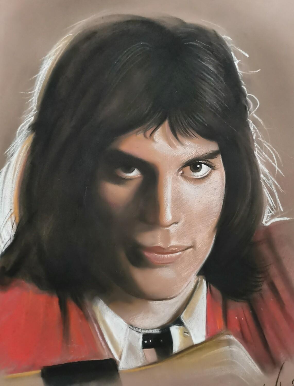 The portrait of Freddie Mercury/Limited edition