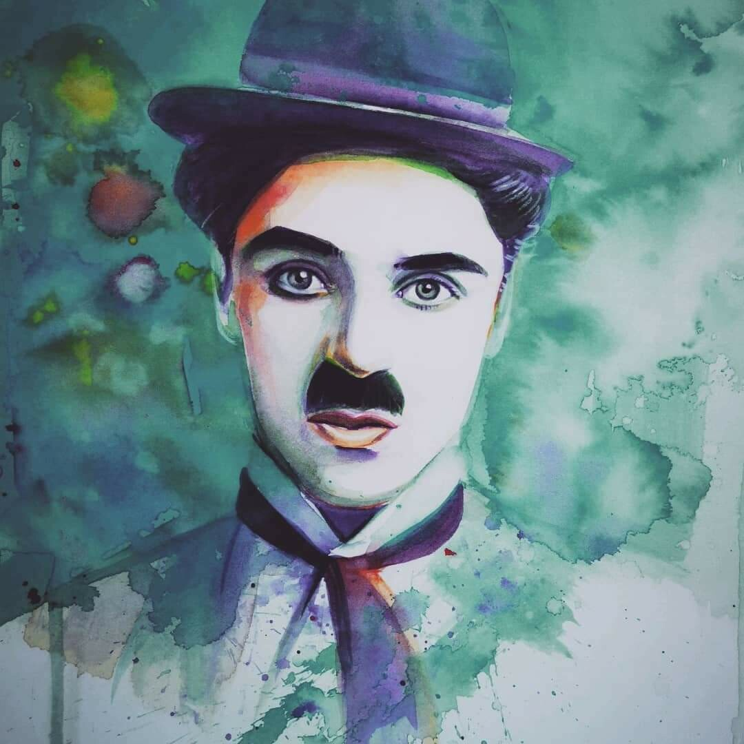 The portrait of Charlie Chaplin /Limited edition
