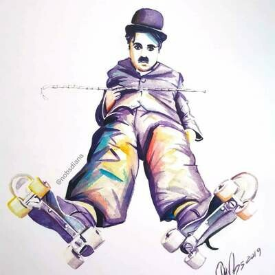 The portrait of Charlie Chaplin / Limited edition