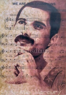 The portrait of FREDDIE MERCURY