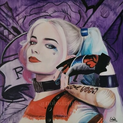 Harley Quinn / Limited edition print on canvas