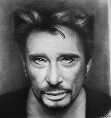 Johnny Hallyday /Limited edition print 1 /100 pieces