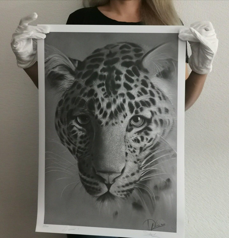 Jaguar I New Size A2 limited edition print