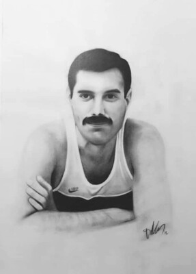Freddie Mercury's portrait / Limited edition print