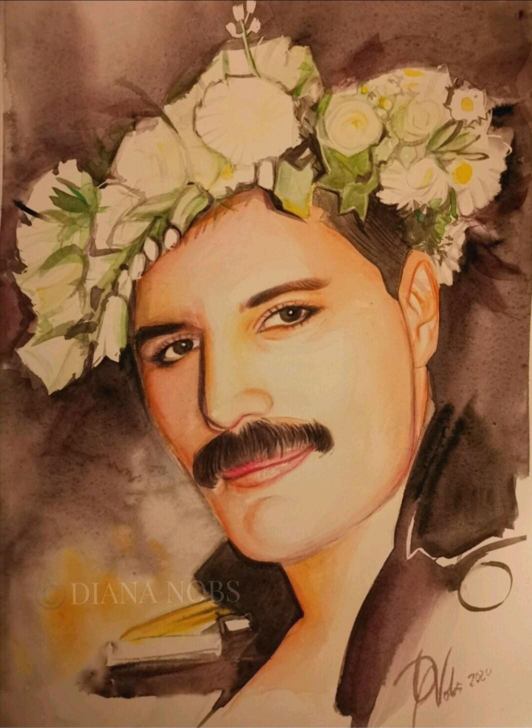 Freddie Mercury's portrait /Original
