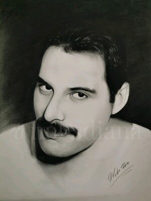 The portrait of Freddie Mercury /Limited edition print