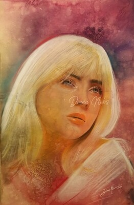 Billie Eilish's portrait/ Original