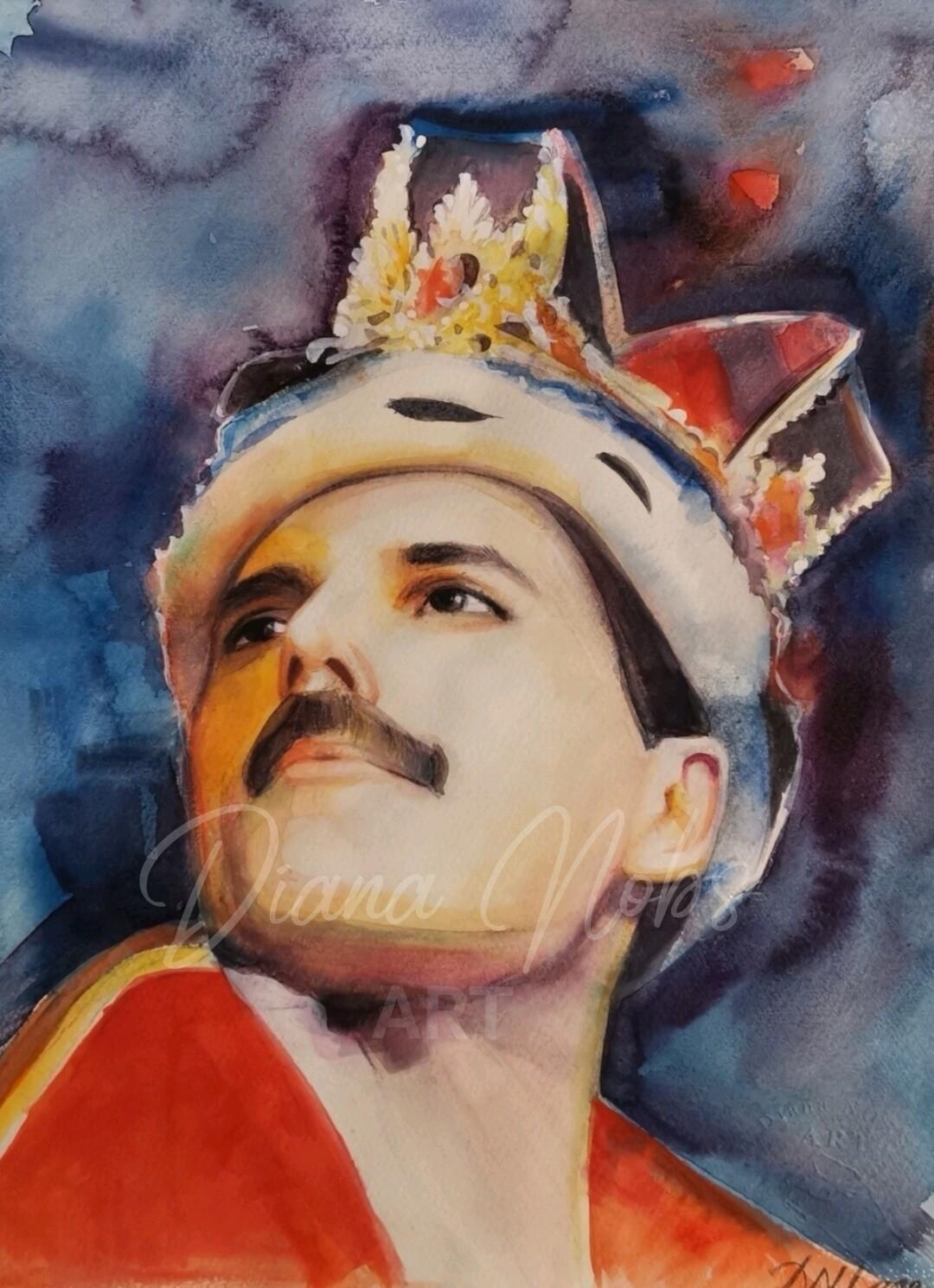The portrait of Freddie Mercury /Limited edition 1/100