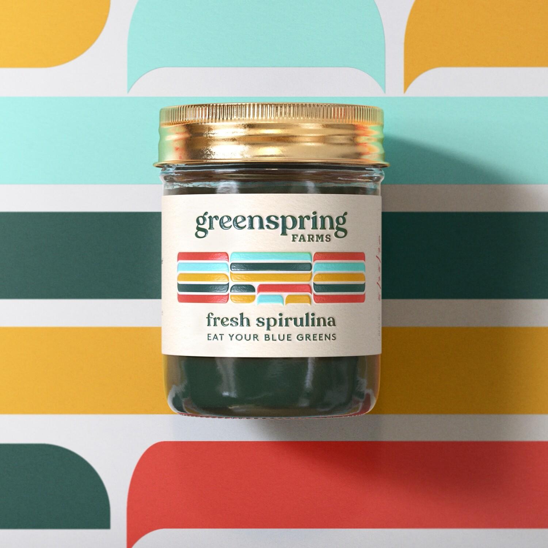 8oz Jar of Fresh Spirulina