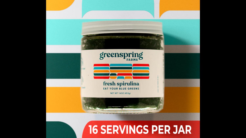 16 ounce Jar of Fresh Spirulina