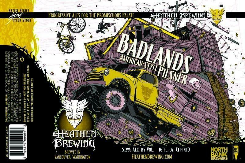 Badlands Pilsner 4-Pack 16oz Cans