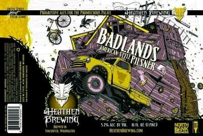 Badlands Pilsner 4-Pack 16oz Cans