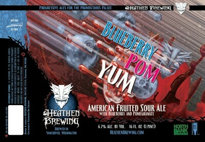 Blueberry Pom Yum 4-Pack 16oz Cans