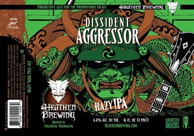 Dissident Aggressor 4-Pack 16oz Cans
