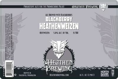 Blackberry Heathenweizen 4-Pack 16oz Cans