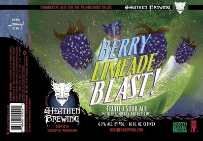 Berry Limeade Blast 4-Pack 16oz Cans