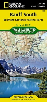 National Geographic Banff South Map