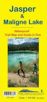 Jasper & Maligne Lake Map