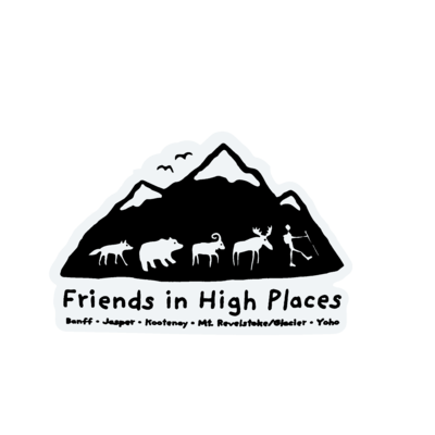 Friends in High Places Logo Sticker